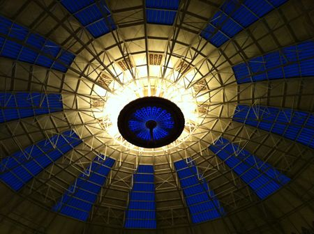 Blue Hour Through the Dome at West Baden Springs Hotel  2012 Claudia Ward