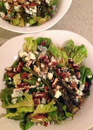 Roasted Asparagus and Mushroom Salad © 2012 Claudia Ward