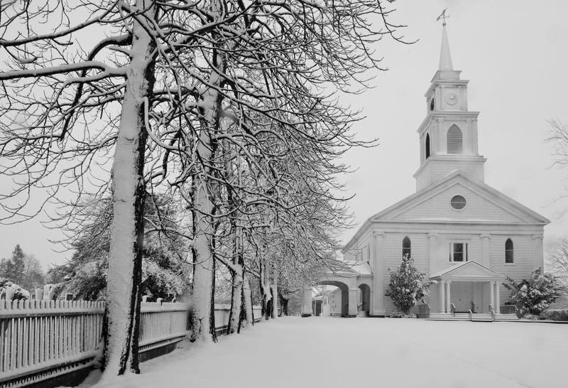 Bridgehampton in the Snow