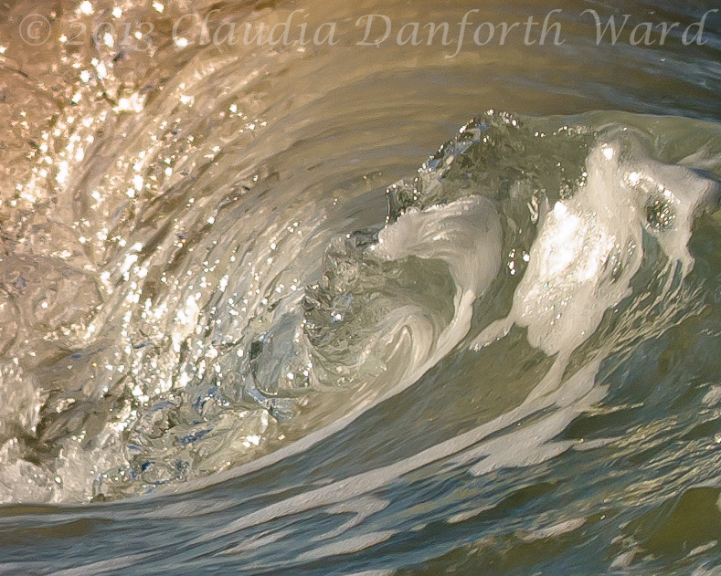Abstract Wave II © 2013 Claudia Danforth Ward