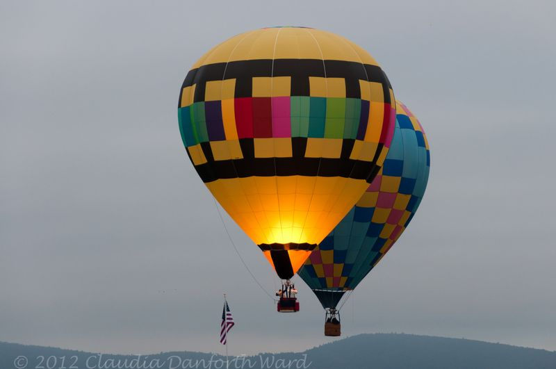 Balloons Rising at the 40th Adirondack Balloon Festival