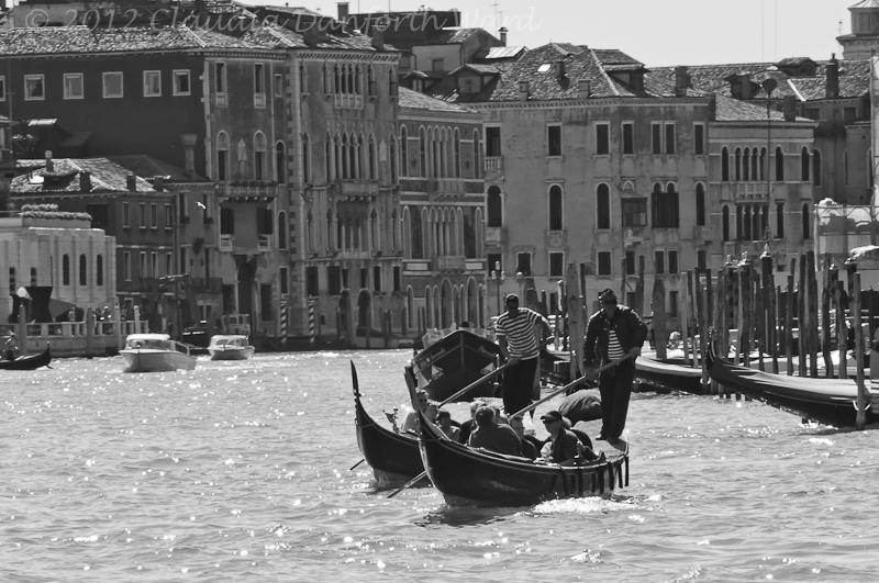 Gondolas on the Grand Canal © 2012 Claudia Ward