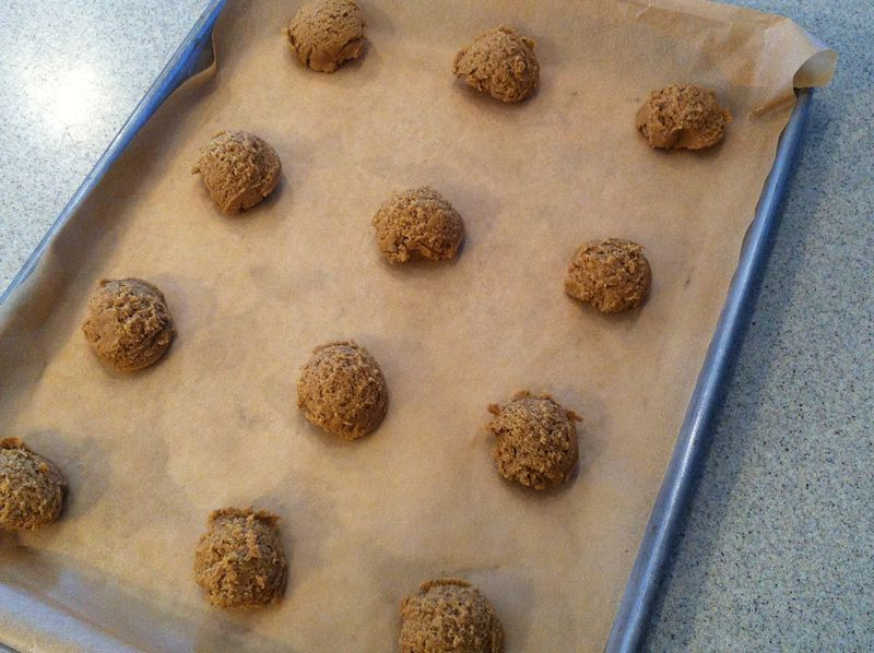 Oven-ready Ginger Snaps © 2011 Claudia Ward