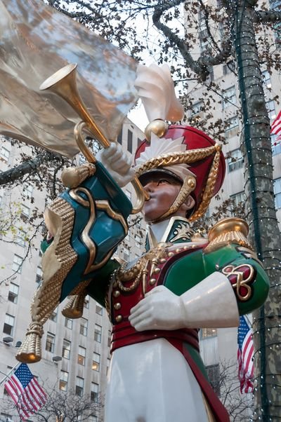 Bugler at Rockefeller Center © 2012 Claudia Ward