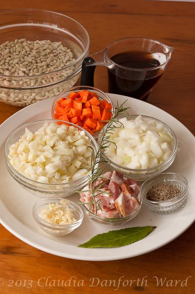 Mise en Place for French Flageolet Beans
