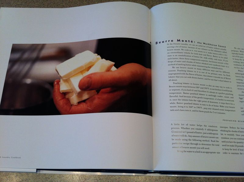The French Laundry Cookbook by Thomas Keller - Beurre Monté