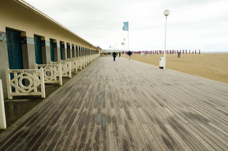 Cabanas at the Beach in Deauville Named After American Movie Stars