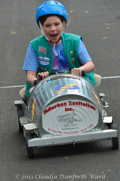 Emily Glass Most Creative Car Winner at the Soap Box Derby in Sag Harbor, NY