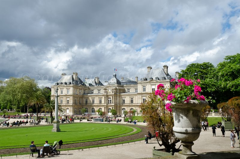 Wide Angle of the Luxembourg Palace in Paris ©2013 Claudia Danforth Ward