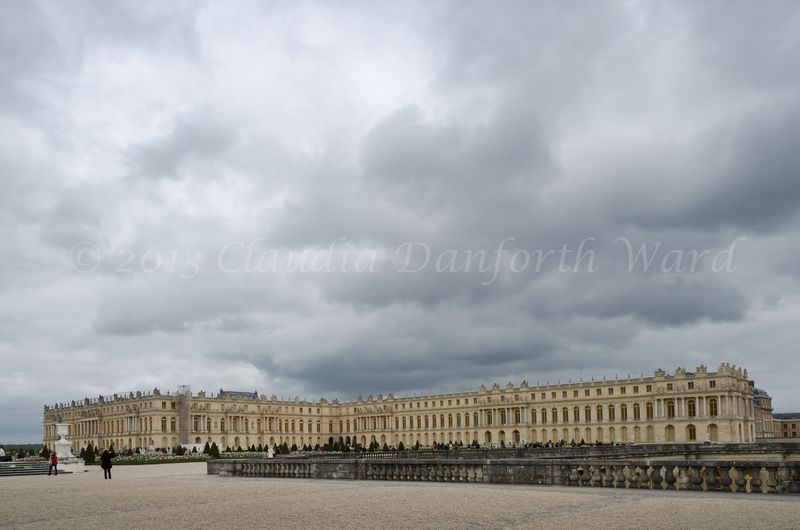 Wide Angle Image of the Palace at Versailles