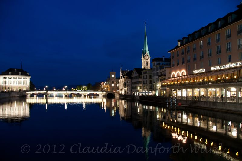 Blue Hour in Zurich © 2012 Claudia Danforth Ward