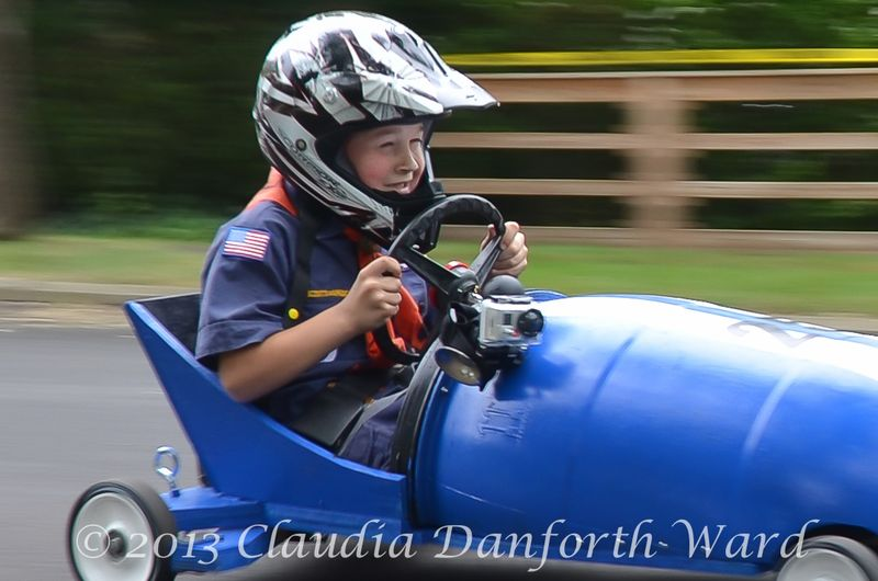 Charlie Schaefer Winner in his Class in the Sag Harbor Soap Box Derby 2013