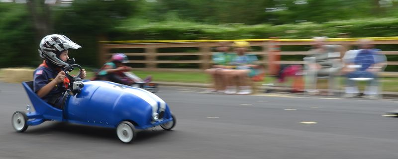 Charlie Schaefer with GoPro on His HOrn in the Sag Harbor Soap_Box_Derby