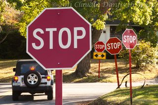 Uncompressed Stop Signs © 2011 Claudia Ward