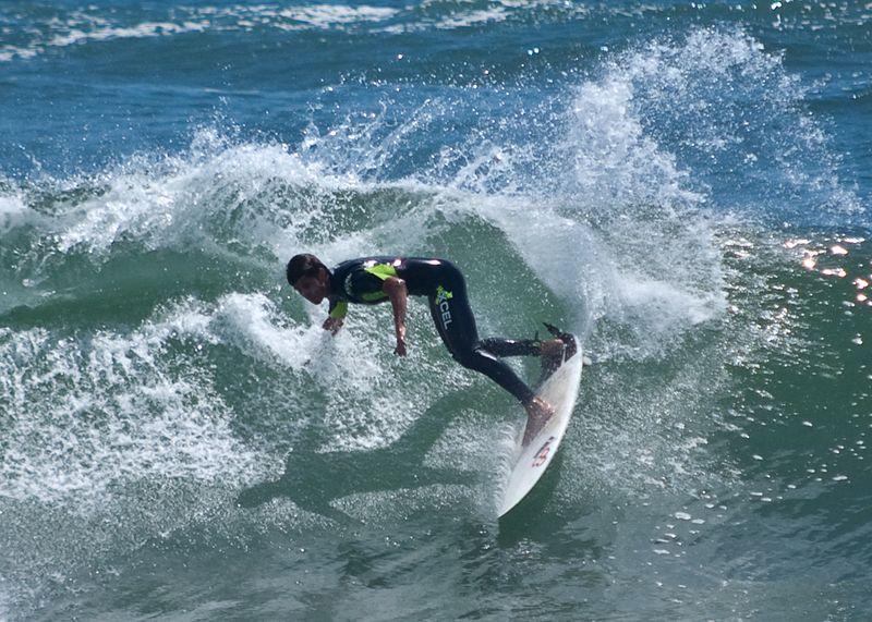 Surfer taken on Sports Exposure Mode