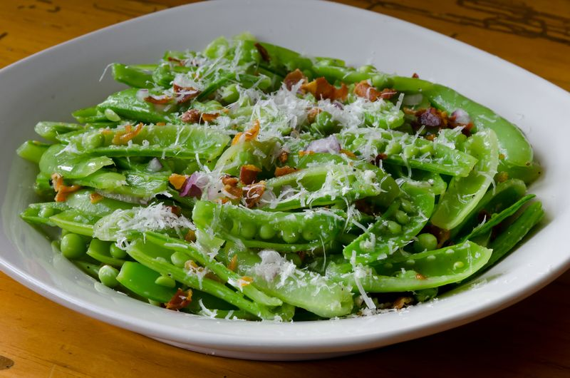 Snap Peas with Pancetta