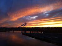 Sunset in Saint John, New Brunswick