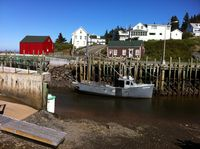 Halls Harbor on the Bay of Fundy, Nova Scotia