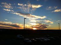 Sunset in Windsor at the Super 8 - NOva Scotia