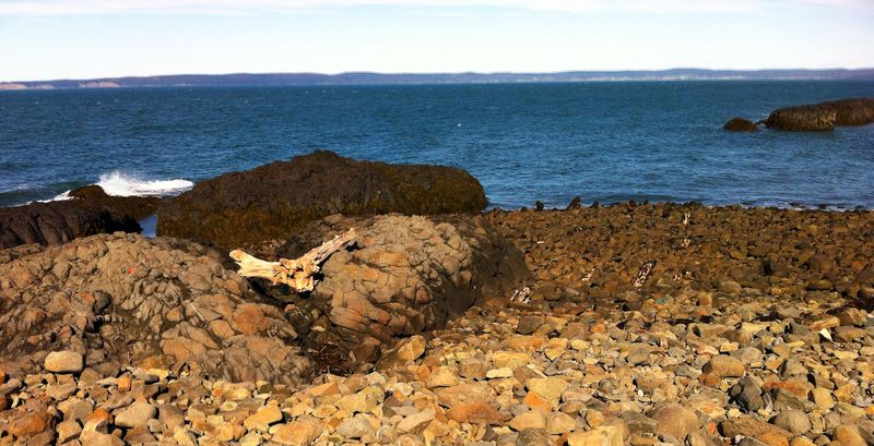 The Bay of Fundy Coastline in Nova Scotia