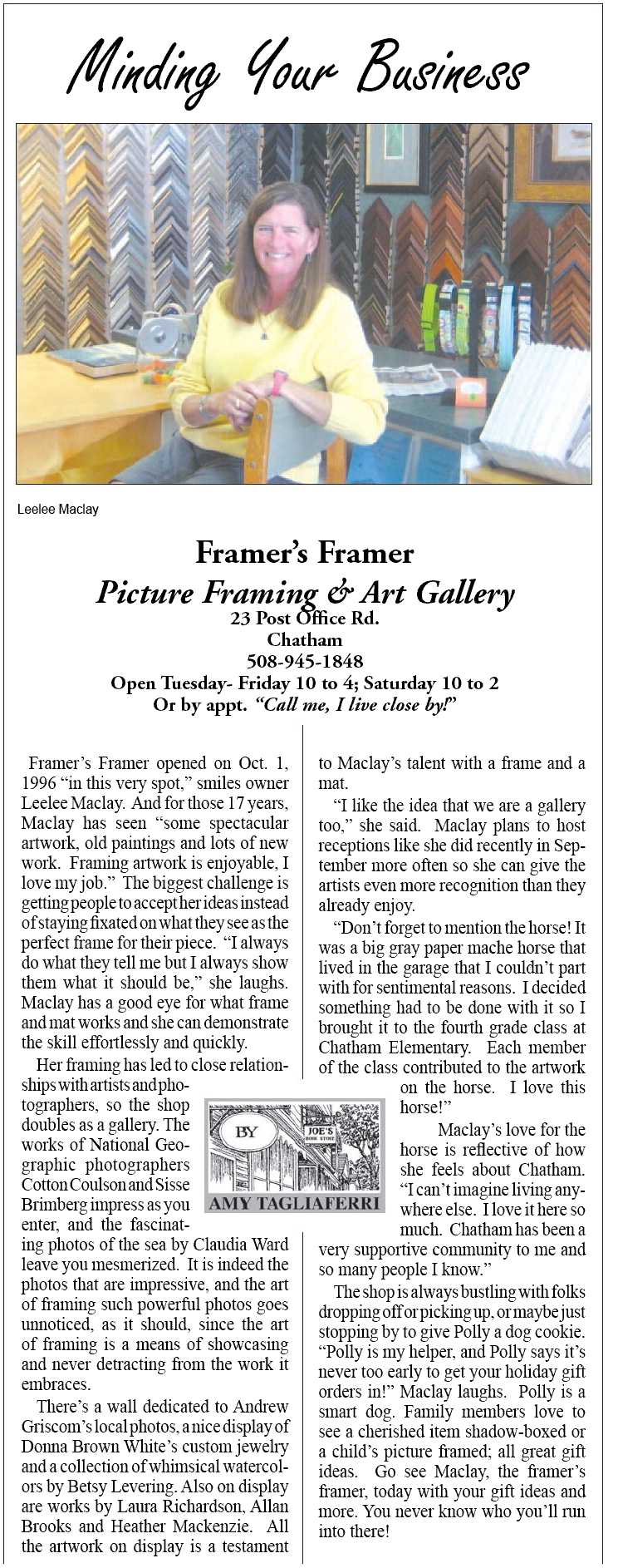 Framer's Framer article
