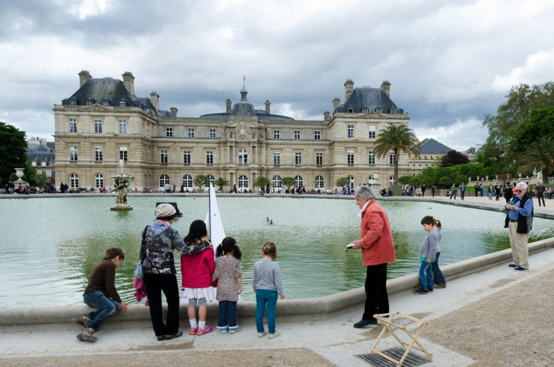 Sailing in the Luxembourg Gardens, Paris