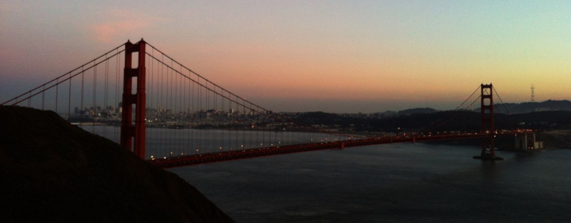 Dusk at the Golden Gate of San Francisco ©2013 Claudia Ward