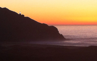 Sunset at Point Sur ©2013 Claudia Ward
