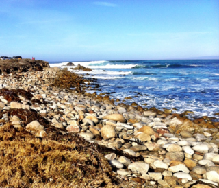 Pebble Beach's Restless Sea ©2013 Claudia Ward
