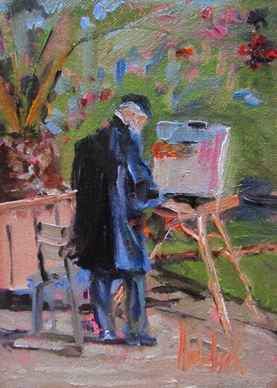 """Artiste at Luxembourg Gardens"" by Barbara Andolsek"