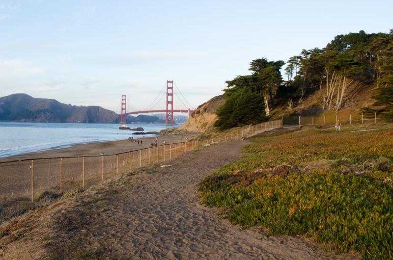 Golden_Gate_Bridge_and Baker Beach San_Francisco ©2014 Claudia Ward