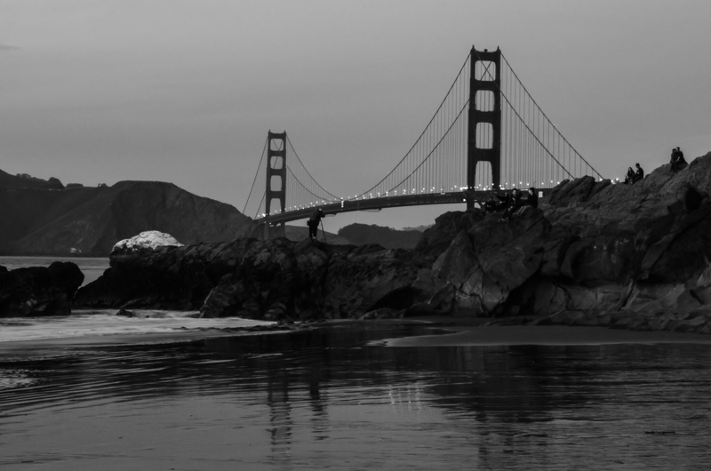 Sunset Time at Baker Beach & the Golden Gate_Bridge_San_Francisco ©2014 Claudia Ward