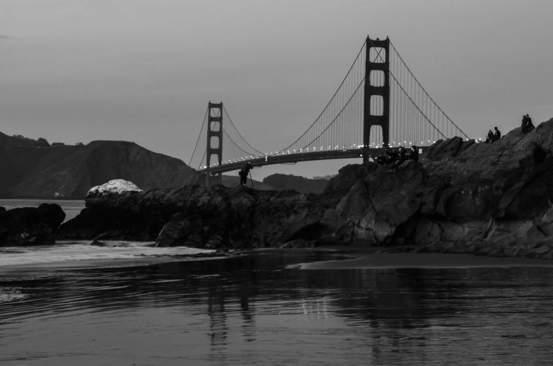 Sunset Time at Baker Beach & the Golden Gate_Bridge_San_Francisco ©2014 Claudia Ward