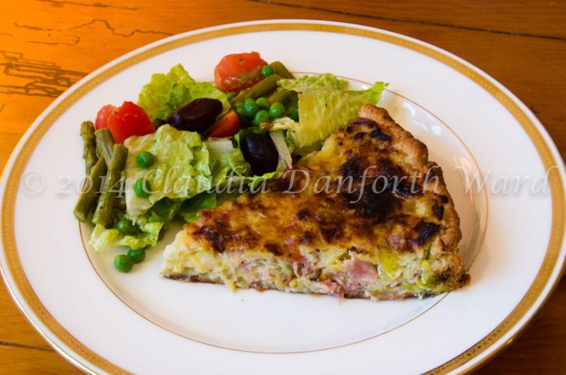 Leek Tart Lunch © 2014 Claudia Ward
