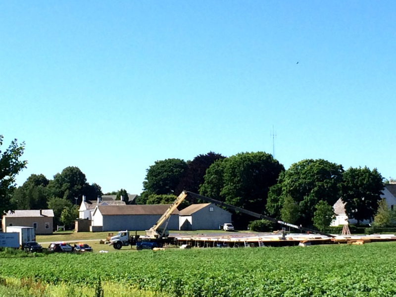 Building an Art Gallery in a potato Field in Bridgehampton - Art Market Hamptons 2014