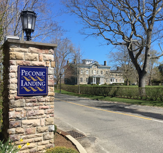 Entrance to Peconic Landing - Brecknock  Hall (1857)
