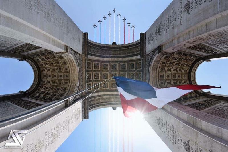 L'Arc de Triomphe - 14 juillet