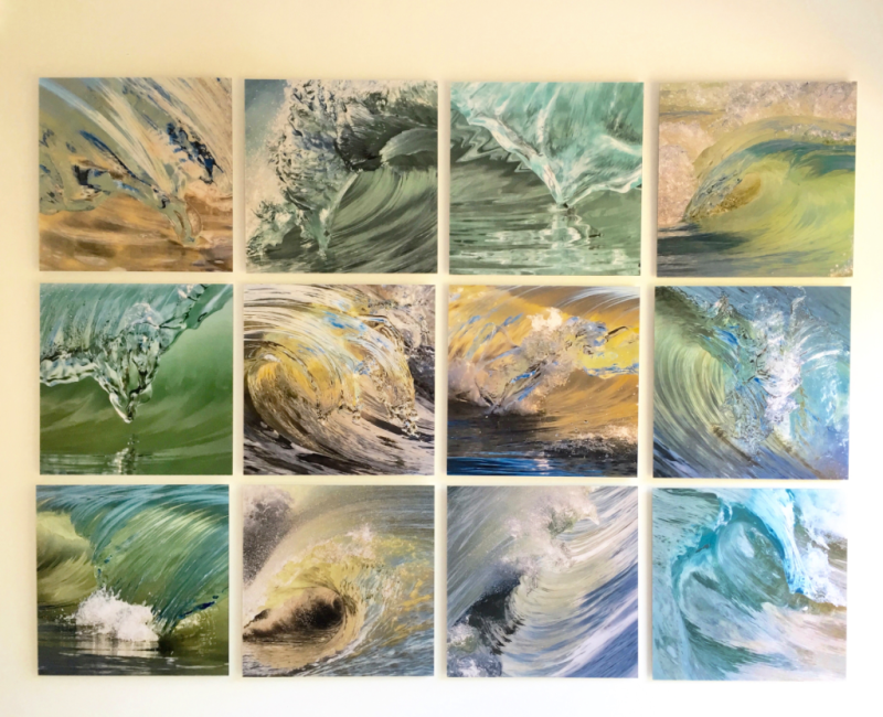 Wave Squares by Claudia Ward Shown at The White Room Gallery