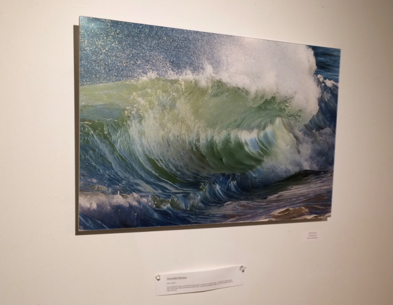"Honorable Mention: ""Shore Break"" © Claudia Ward at Four Corners Arts Center, Tiverton, RI"