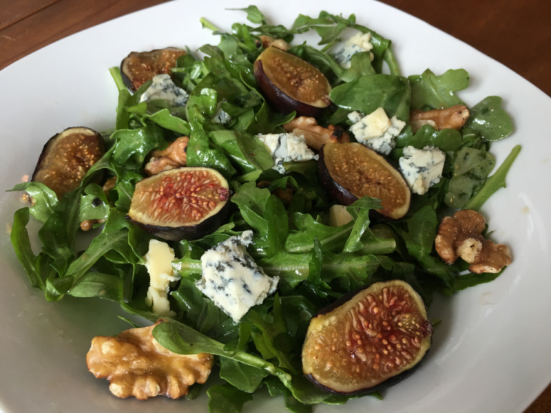 Warm Fig & Arugula Salad © 2016 Claudia Ward