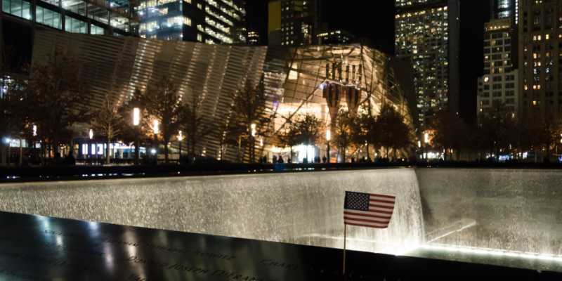 9/11 Memorial Museum and the North Reflecting Pool © Claudia Ward