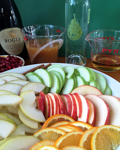 Making Fall Sangria @ 2015 Claudia Ward