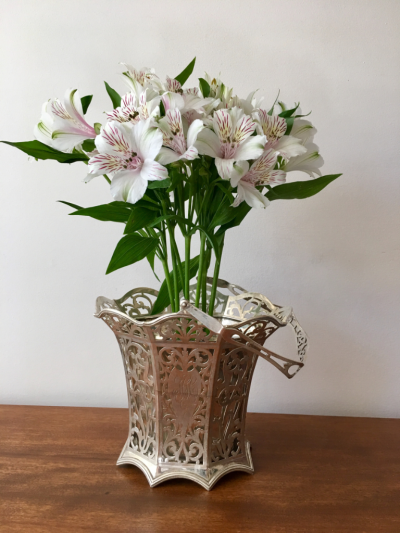 Alstroemeria in Polished Silver Champagne Bucket © 2016 Claudia Ward