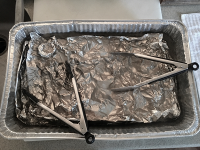 Polishing Silver with foil, baking soda and water.