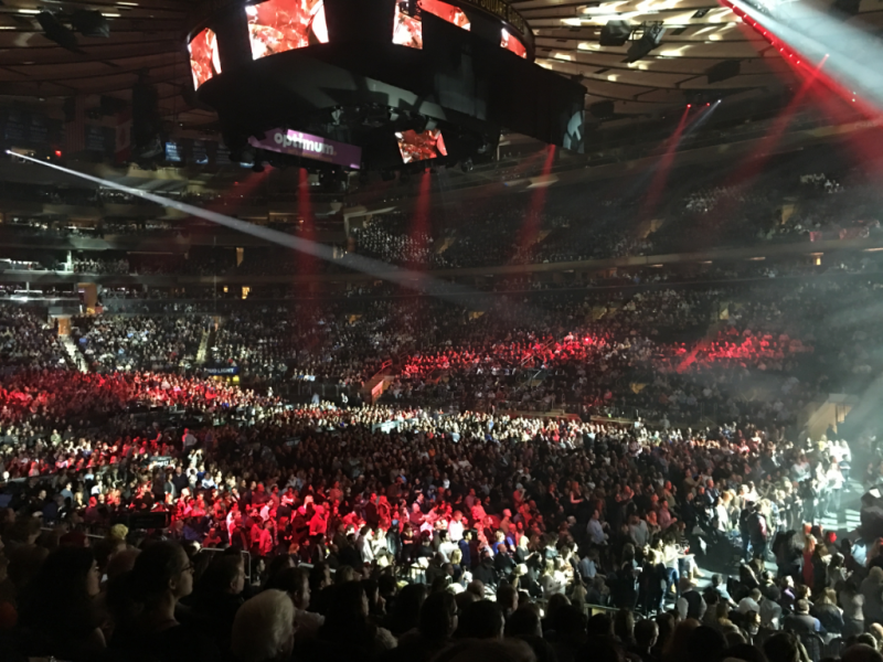 Audience at Madison Square Garden Billy Joel Concert 2016 © Claudia Ward