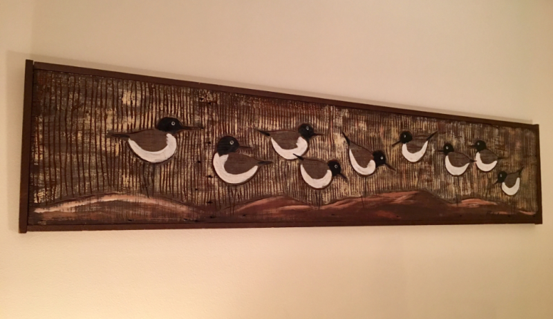 Birds Carved and Painted on Board by Ralph Eno