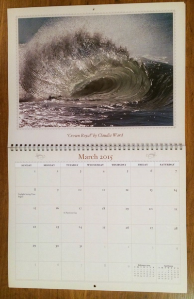 2015 Wall Calendar by Claudia Ward