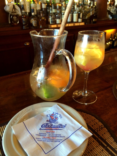 Sangria de Cava at Colombia Restaurant Tampa Florida