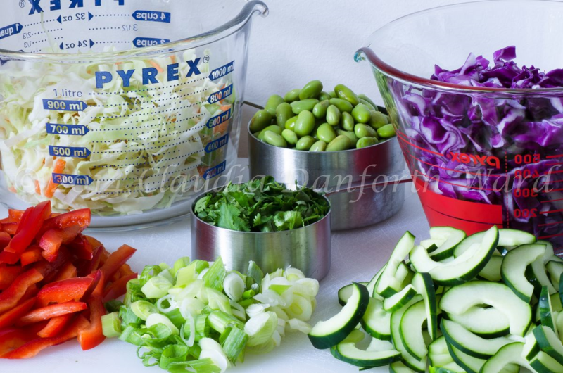 Thai_Crunch_Salad_Mise en Place © 2014 Claudia Ward