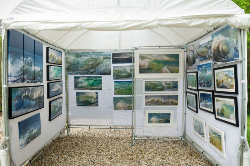 Claudia Ward Photography Art Show Booth